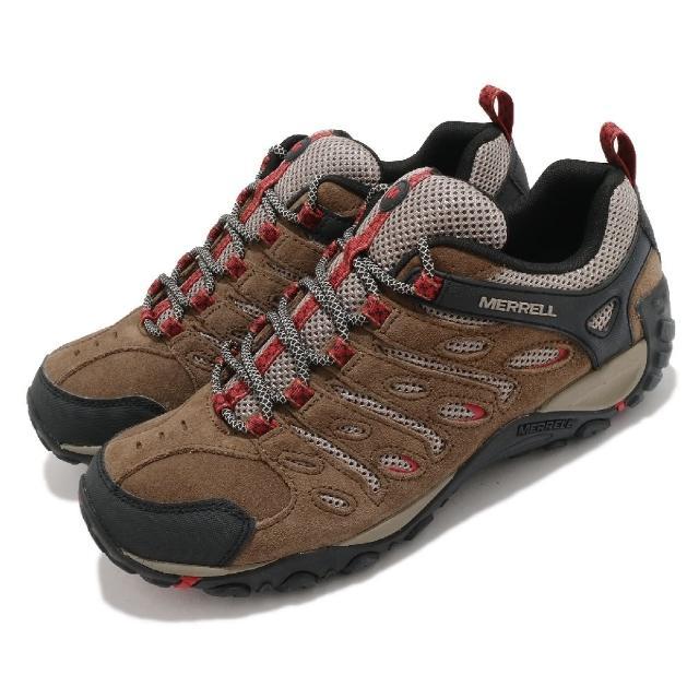 【MERRELL】戶外鞋 Crosslander 2 運動 男鞋 登山 越野 內嵌式避震墊片 高抓地力 棕 黑(ML034687)