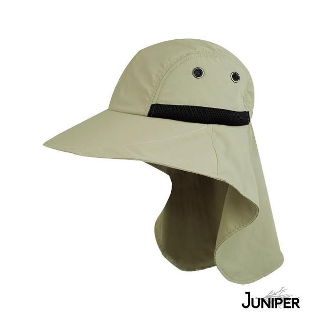 【Juniper 朱尼博】抗UV防潑水披風休閒大眉帽 MJ7213A(帽子/遮陽帽/防曬帽/後蓋片)