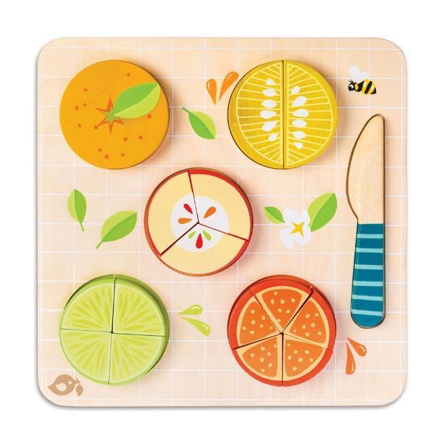 【Tender Leaf Toys】香甜水果益智拼圖(左右腦啟蒙學習教具)
