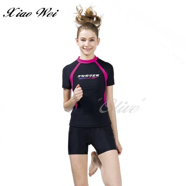 【梅林品牌】流行大女短袖二件式泳裝(NO.M04688)