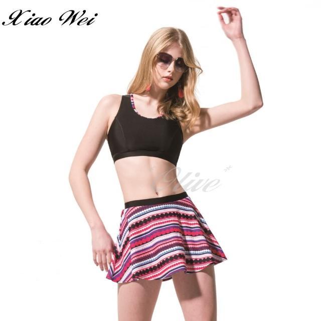 【梅林品牌】時尚大女短背心/比基尼二件式泳裝(NO.M04758)