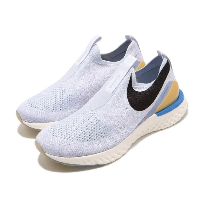 【NIKE 耐吉】慢跑鞋 Epic Phantom React 女鞋 襪套 輕量 透氣 舒適 避震 路跑 灰 黑(CI1290-001)