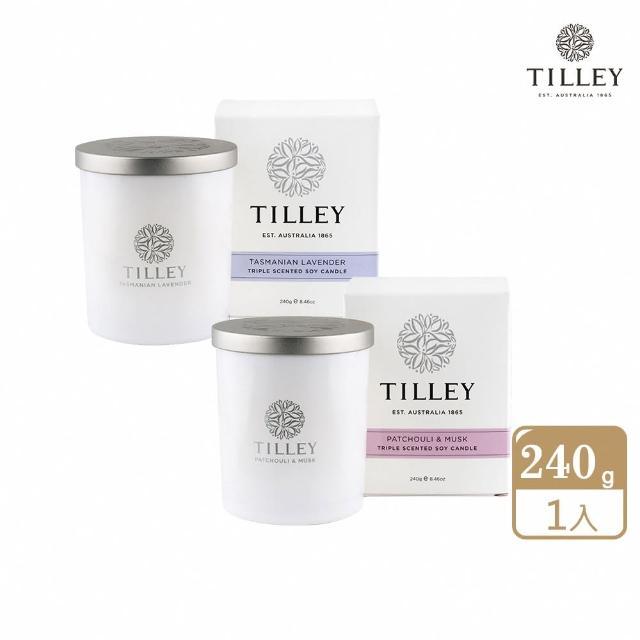 【Tilley 皇家特莉】澳洲原裝微醺大豆香氛蠟燭(共多款可選/線上逛百貨)
