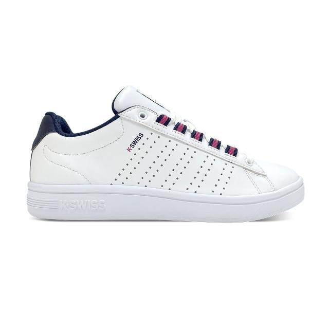 【K-SWISS】時尚 運動鞋 Court Casper II S 女 白 桃紅(96975132)