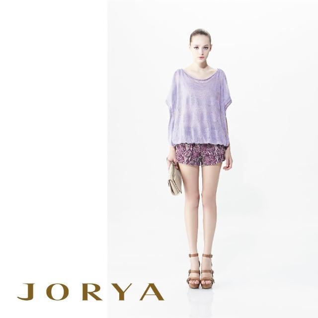 【JORYA】G1200101復古蛇紋印花拉鍊雙口袋短褲