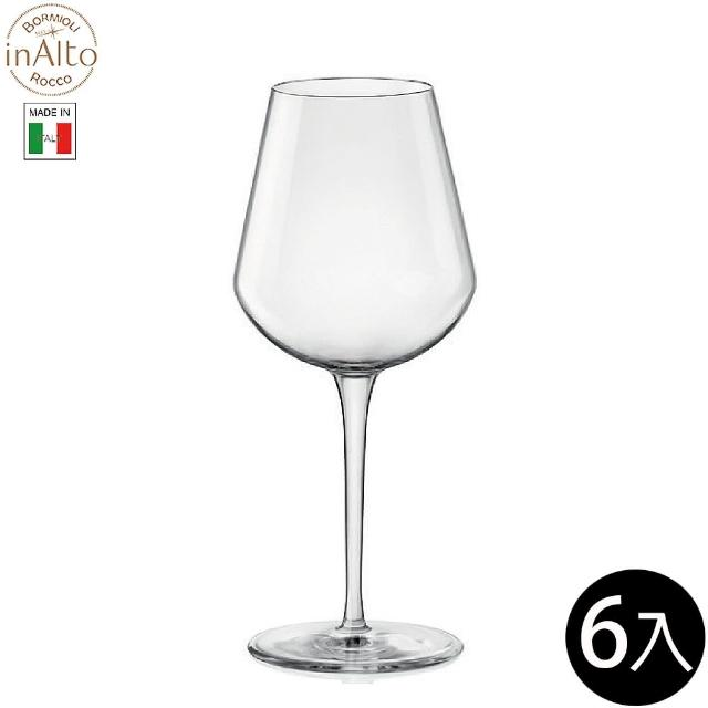 【Bormioli Rocco】InAlto 強化無鉛水晶紅酒杯 白酒杯 470ml/6入 P36572(紅白酒杯)