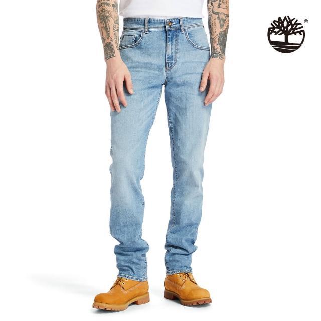 【Timberland】男款淺藍修身牛仔褲(A2C92BQ8)