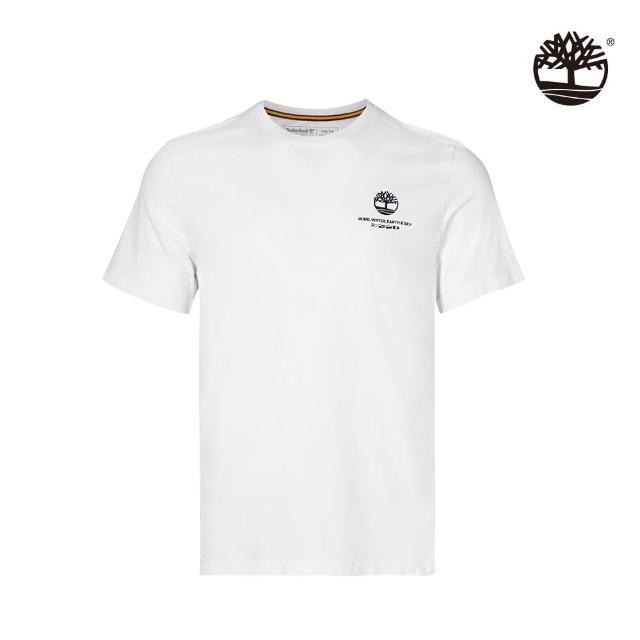 【Timberland】男款白色品牌故事有機棉T恤(A24SZ100)