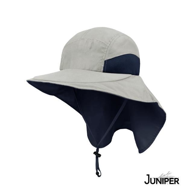 【Juniper 朱尼博】抗UV防潑水大帽眉披風休閒帽 MJ7213C(帽子/遮陽帽/防曬帽/後蓋片)