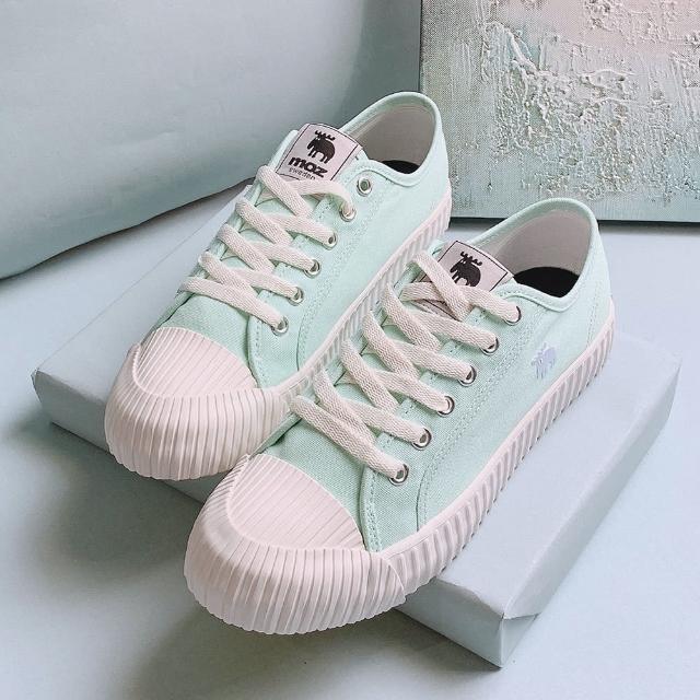 【moz】瑞典 駝鹿綁帶式帆布餅乾鞋(淺綠)