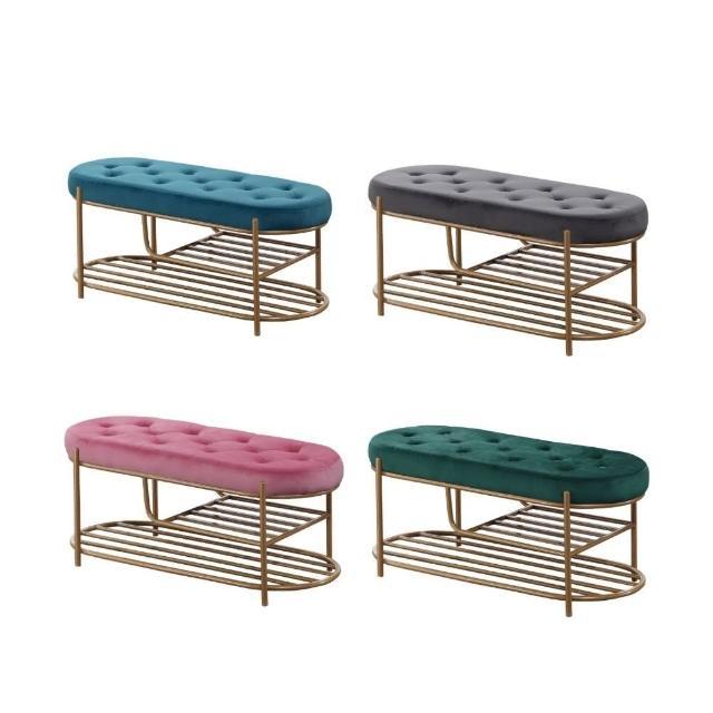 【MUNA 家居】F12瓦達金色布沙發長凳單只(布沙發 椅子 休閒椅 雙人椅)