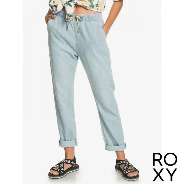 【ROXY】女款 女裝 長褲 SLOW SWELL BEACHY BEACH(淺藍)