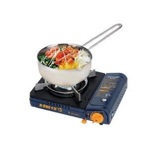 【卡旺】雙安全式卡式爐005D+單把牛奶鍋1.4L(K1-005D+CI-1703)