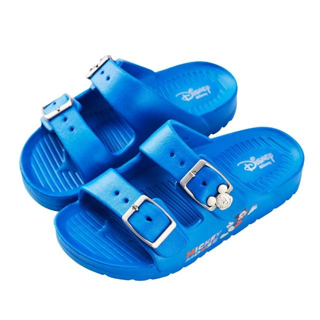 【Disney 迪士尼】迪士尼童鞋 米奇 不對稱造型輕量防水拖鞋-藍(MIT台灣在地工廠製造)