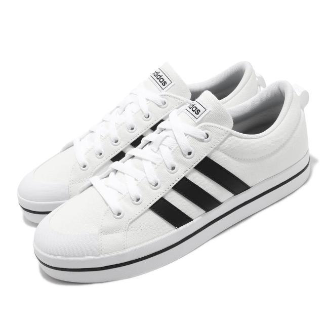 【adidas 愛迪達】休閒鞋 Bravada 滑板鞋 男鞋 愛迪達 三線 帆布 穿搭推薦 白 黑(FV8086)