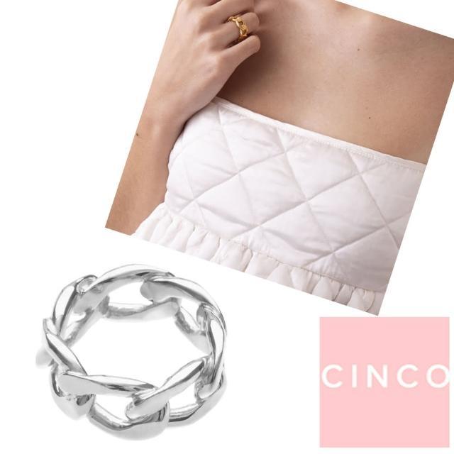 【CINCO】葡萄牙精品 Nico Ring 925純銀素面戒指 簡約百搭款(925純銀)