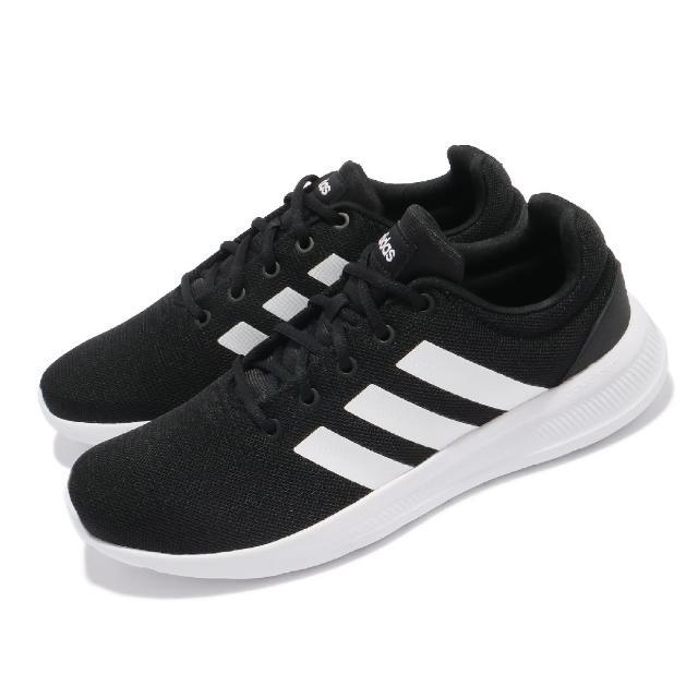 【adidas 愛迪達】慢跑鞋 Lite Racer CLN 運動 男鞋 愛迪達 輕量 透氣 舒適 避震 路跑 黑 白(H04286)