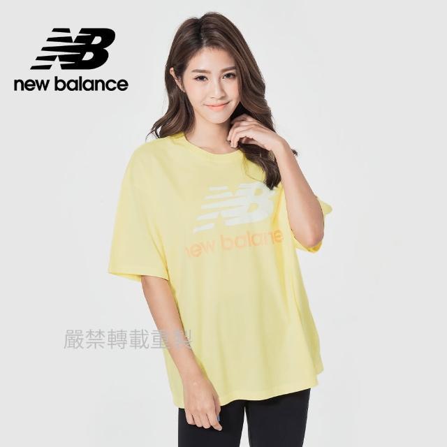 【NEW BALANCE】NB 基本短袖T恤_女款_鵝黃色_AWT03519LHZ(亞版 版型正常)
