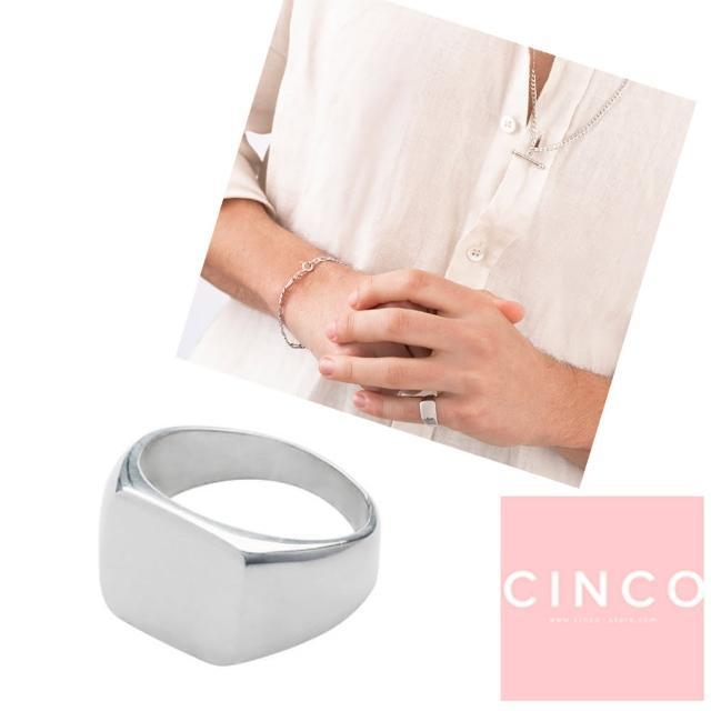 【CINCO】葡萄牙精品 Giulia ring 925純銀尾戒 方形素面尾戒(925純銀)