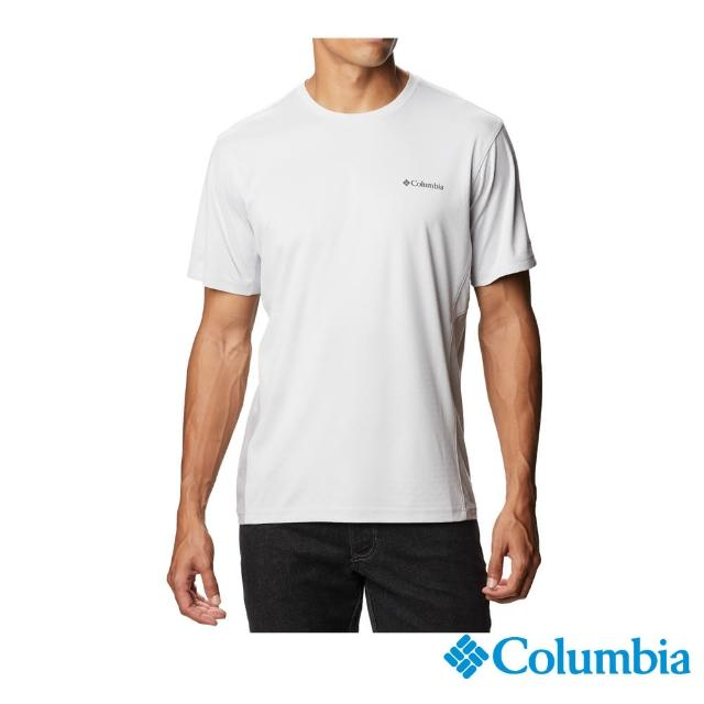 【Columbia 哥倫比亞】男款-UPF50酷涼快排短袖上衣-灰色(UAE08090GY / 排汗.防曬.酷涼)