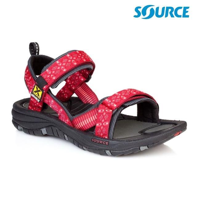 【SOURCE】女 Gobi 越野運動涼鞋 10202240 紅圖騰(織帶 輕量 快乾 抑菌)