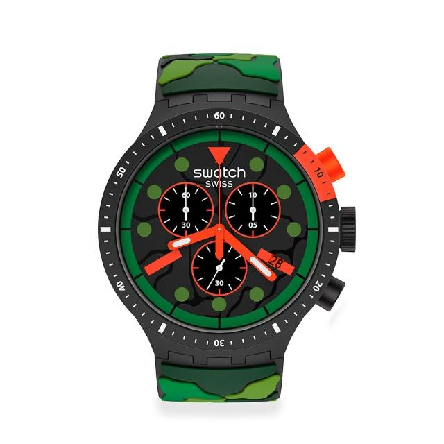【SWATCH】BIG BOLD系列手錶ESCAPEOCEAN叢林冒險(47mm)