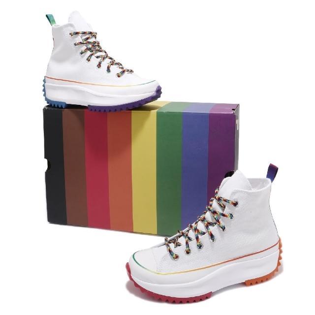 【CONVERSE】休閒鞋 Run Star Hike 男女鞋 厚底 增高 高筒 鴛鴦配色 米白 多(170824C)