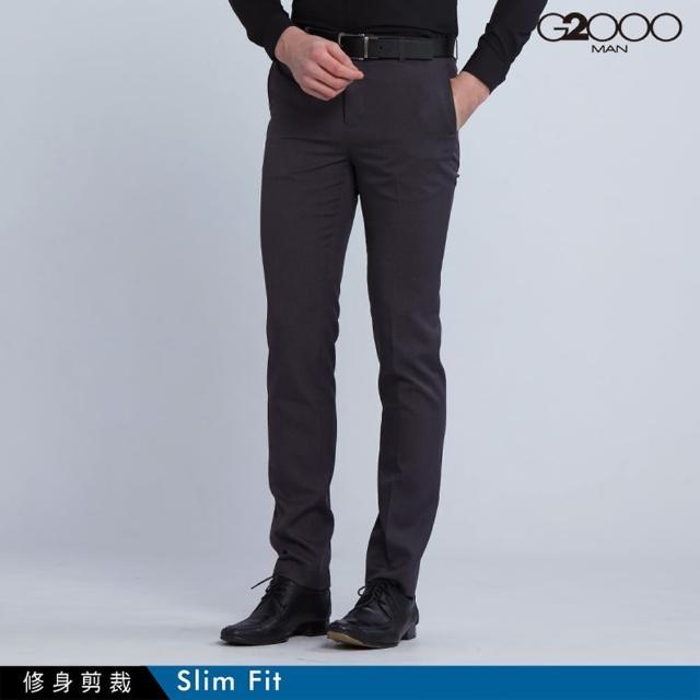 【G2000】時尚斜紋單品西褲-灰色(0815100495)