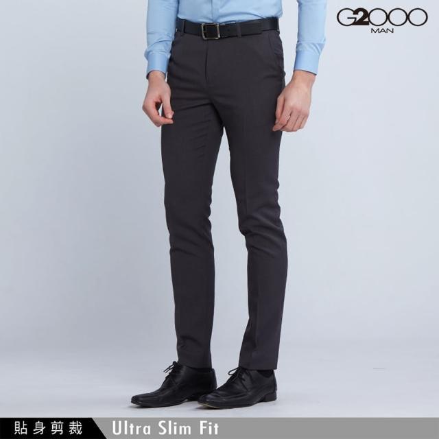 【G2000】時尚斜紋單品西褲-灰色(0815100695)
