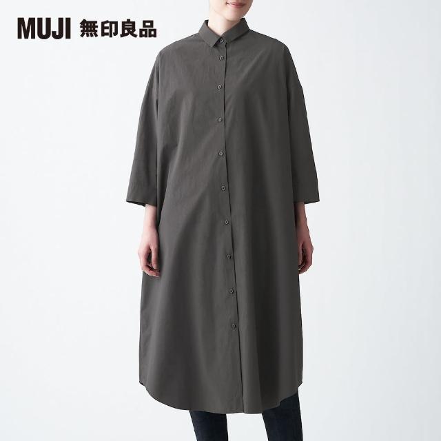 【MUJI 無印良品】女有機棉高密織襯衫洋裝ONE SIZE(共2色)