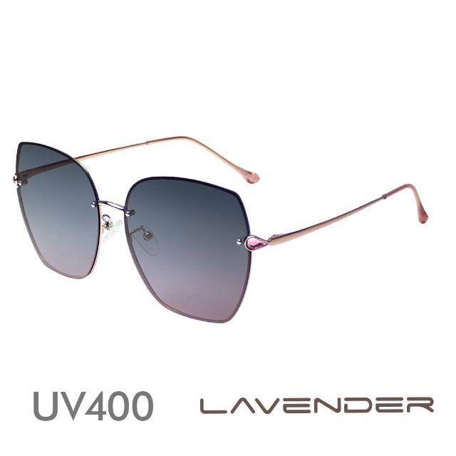 【Lavender】時尚名媛水鑽-漸層灰櫻花粉12112-C2(偏光太陽眼鏡)
