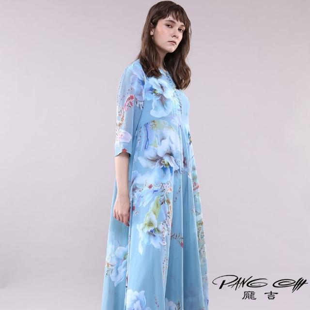 【PANGCHI 龐吉】中式花卉印花涼感洋裝(2118025-31/32)