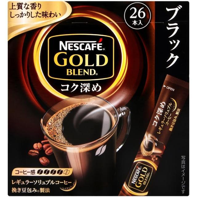 【Nestle 雀巢】金牌濃厚黑咖啡-26本入(52g)