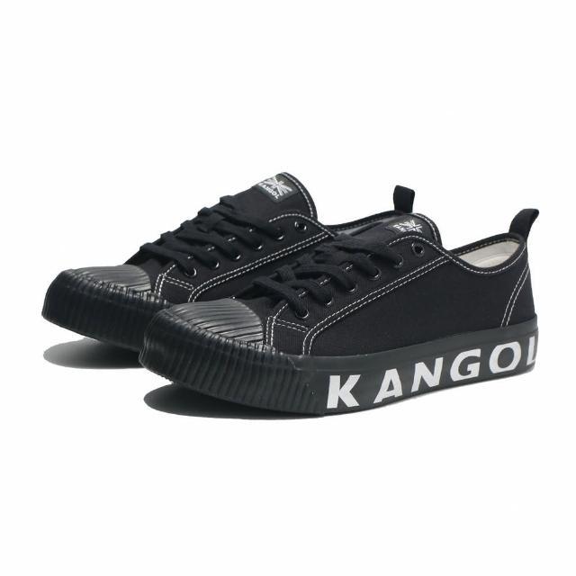 【KANGOL】休閒鞋 餅乾鞋 全黑 中底壓紋 帆布 男(6121160120)