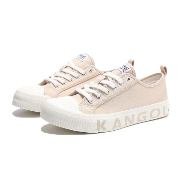 【KANGOL】休閒鞋 餅乾鞋 卡其 中底壓紋 帆布 男(6121160131)