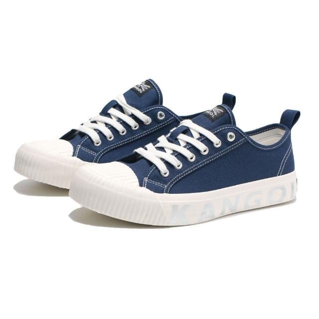 【KANGOL】休閒鞋 餅乾鞋 深藍 中底壓紋 帆布 男(6121160180)