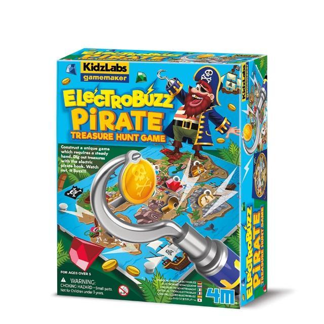 【Waynebook 瑋恩書店】4M 海盜船長的藏寶圖(STEAM 科學探索 趣味桌遊)