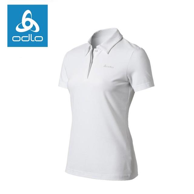 【ODLO】女仿棉短袖POLO衫 502741-10000白(POLO衫)