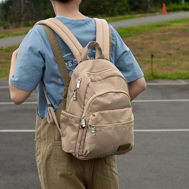 【J II】後背包-多隔層防潑水後背包-奶茶色-6390-21(後背包)