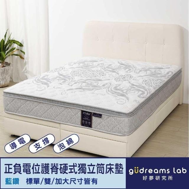 【Awake】甦醒藍鑽加強硬式獨立筒床_雙人5尺(導電紗表布)