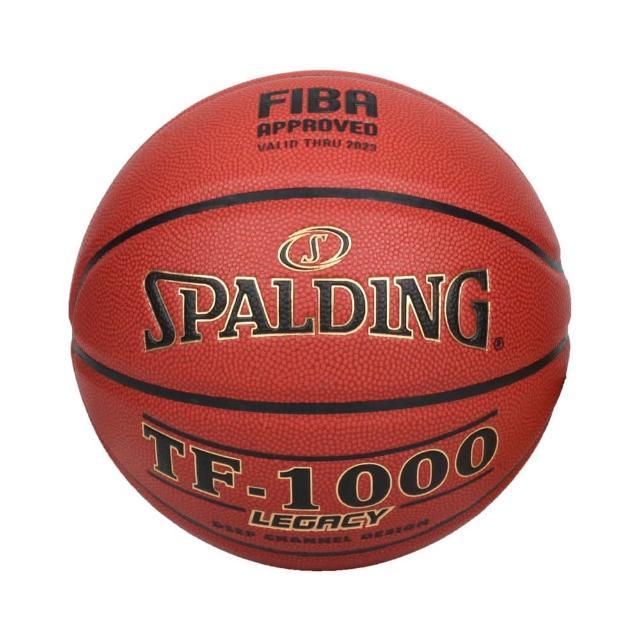 【SPALDING】TF-1000 LEGACY 室內籃球#6號-6號球 斯伯丁 暗橘黑金(SPA74451)