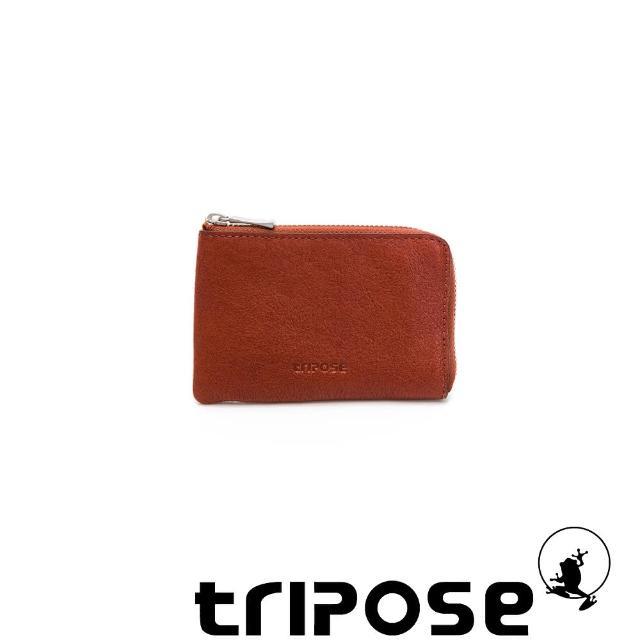 【tripose】進口牛皮零錢卡包(深駝)