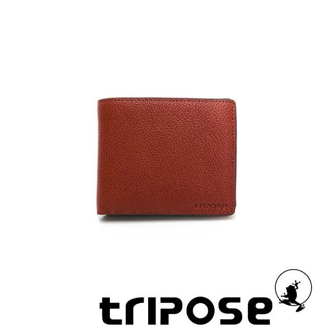 【tripose】進口牛皮對開短夾(深駝)