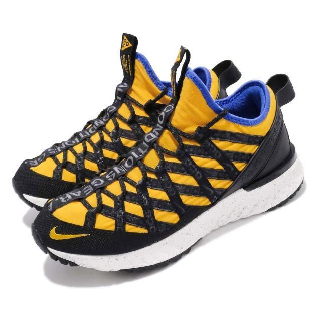 【NIKE 耐吉】戶外鞋ACG React Terra Gobe 男鞋 襪套 避震 反光 機能穿搭 球鞋 黃 黑(BV6344-700)