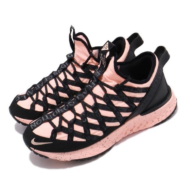 【NIKE 耐吉】戶外鞋 React Terra Gobe 運動 襪套 ACG 反光 都市機能 穿搭 舒適 粉 黑(BV6344-800)