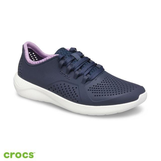 【Crocs】女鞋 LiteRide徒步繫帶鞋(205234-4SP)