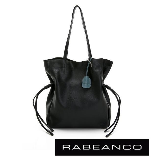 【RABEANCO】RUTA束口直立式托特包(黑色)