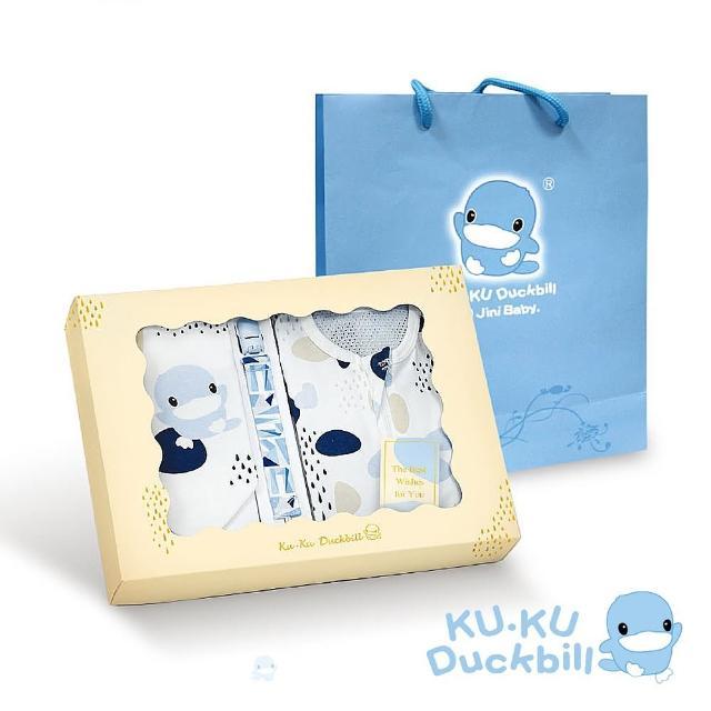 【KU.KU. 酷咕鴨】超好眠洞洞成長包巾寵愛禮盒3件組(藍點印記/粉彩印記)