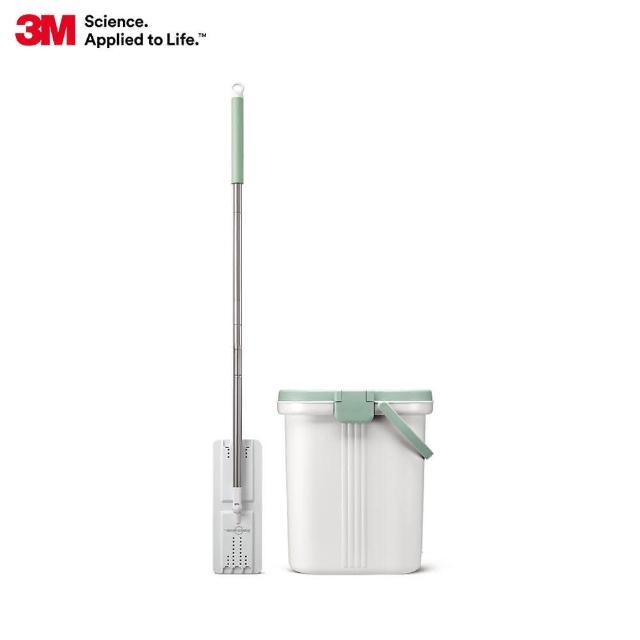 【3M】百利免手洗平板刮水桶-1桶1桿1布