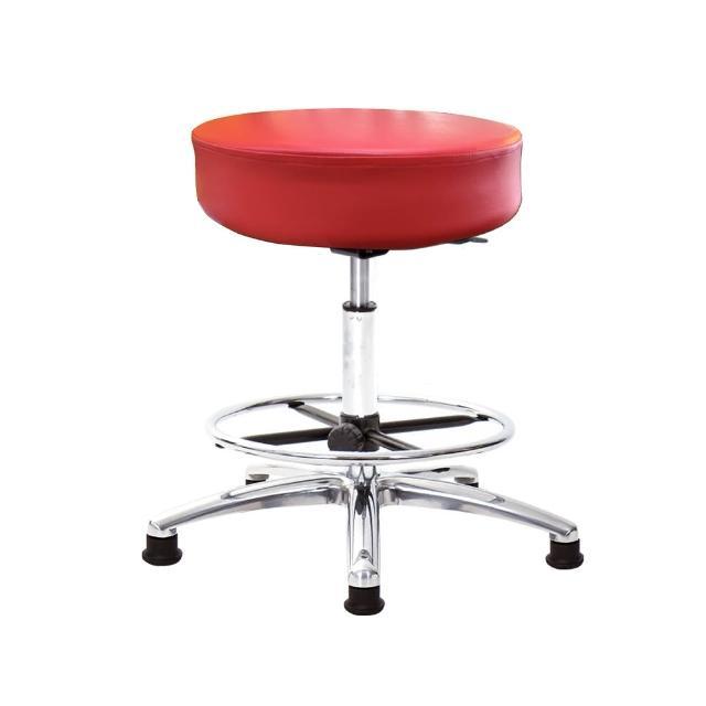 【GXG 吉加吉】圓凳款 工作椅 寬鋁腳+踏圈(TW-T01 LU1K)